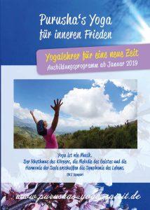 Ausbildungsflyer Yogalehrer